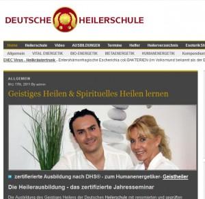 Die deutsche Heilerschule bietet Heilerausbildung für spirituelles Heilen