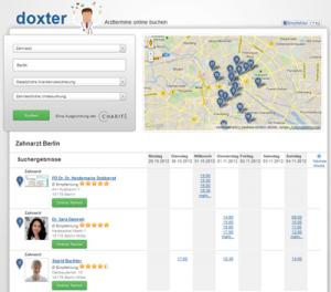 Doxter.de - Arzttermine online (Bild: doxter.de)