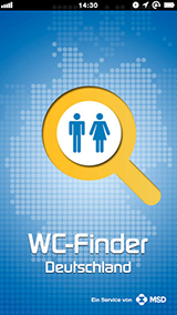 Mobile App – WC-Finder Deutschland